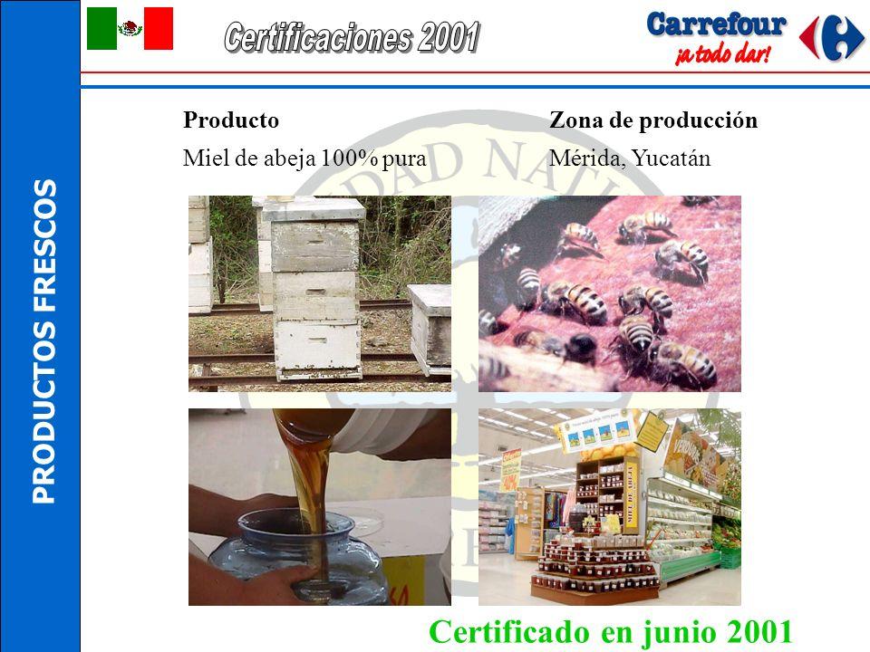 Certificaciones 2001 Certificado en junio 2001