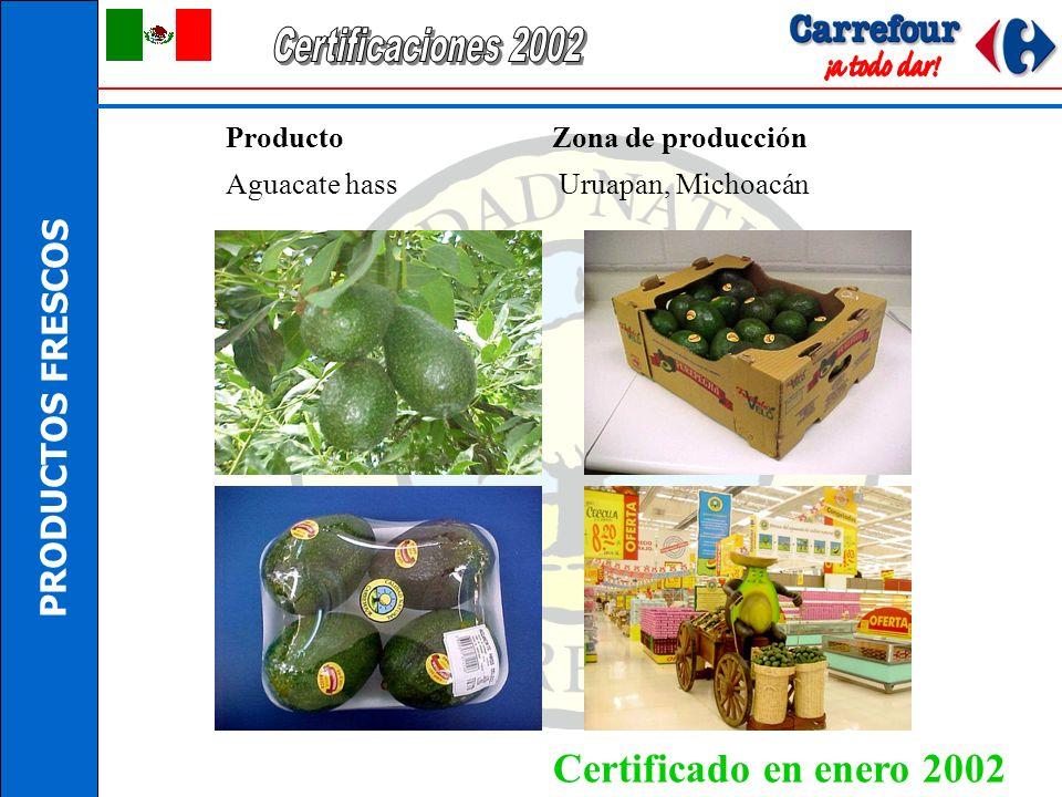 Certificaciones 2002 Certificado en enero 2002