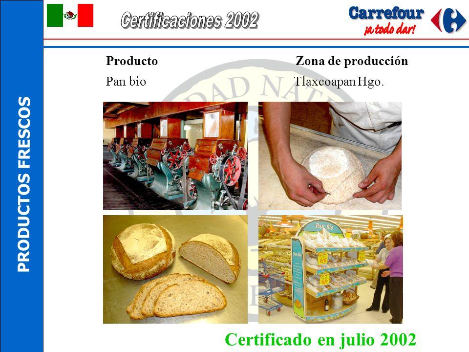 Certificaciones 2002 Certificado en julio 2002