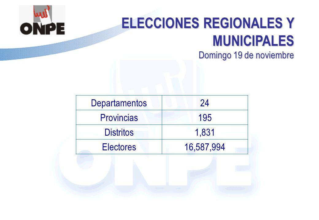 ELECCIONES REGIONALES Y MUNICIPALES