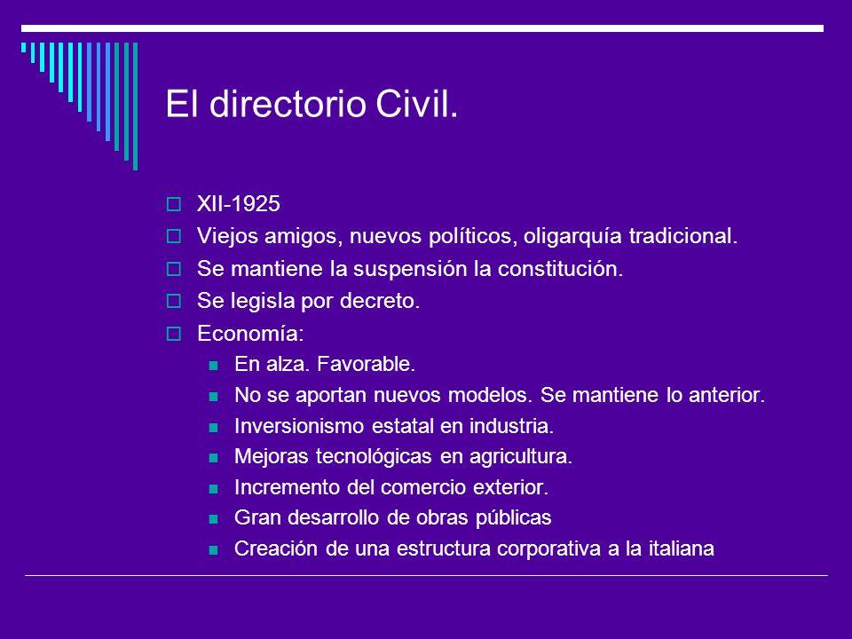 El directorio Civil. XII-1925