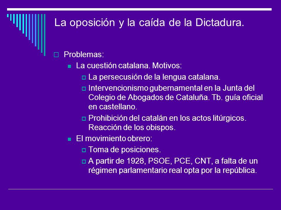 La oposición y la caída de la Dictadura.