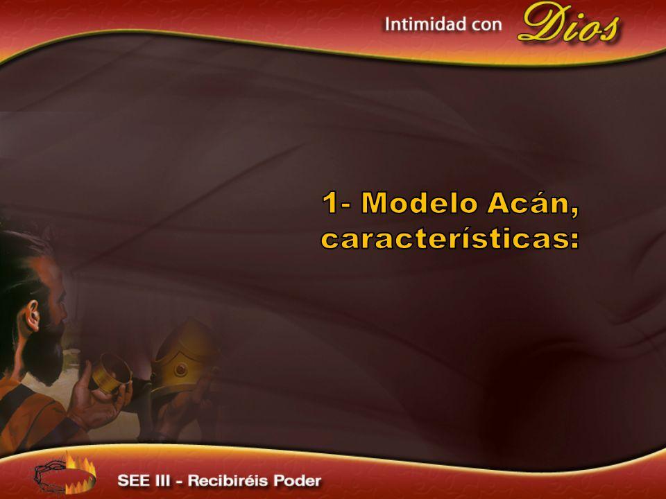 1- Modelo Acán, características: