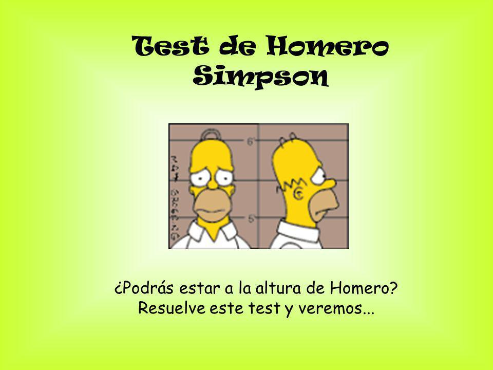 Test de Homero Simpson ¿Podrás estar a la altura de Homero