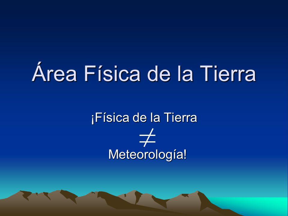 Área Física de la Tierra