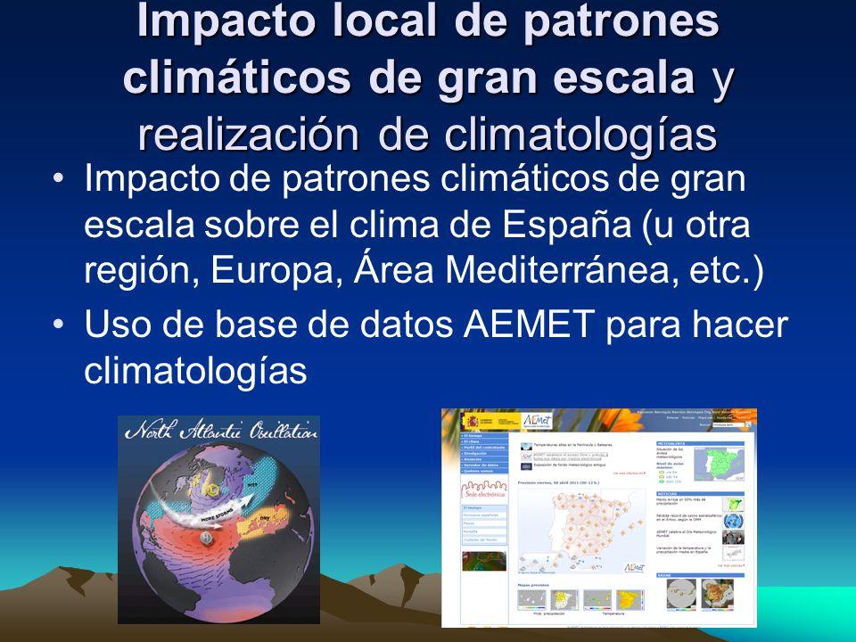 Impacto local de patrones climáticos de gran escala y realización de climatologías