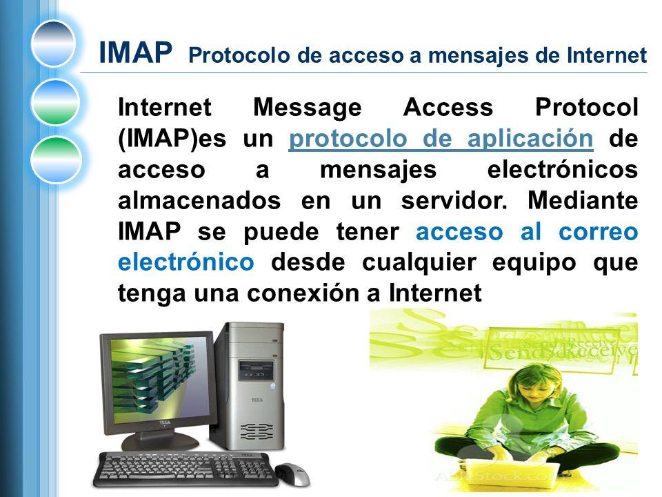 IMAP Protocolo de acceso a mensajes de Internet