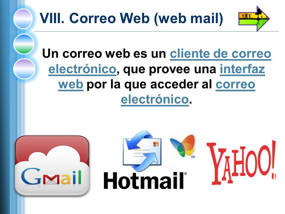 VIII. Correo Web (web mail)