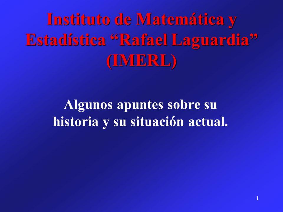 Instituto de Matemática y Estadística Rafael Laguardia (IMERL)