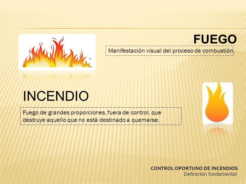 INCENDIO FUEGO Manifestación visual del proceso de combustión.