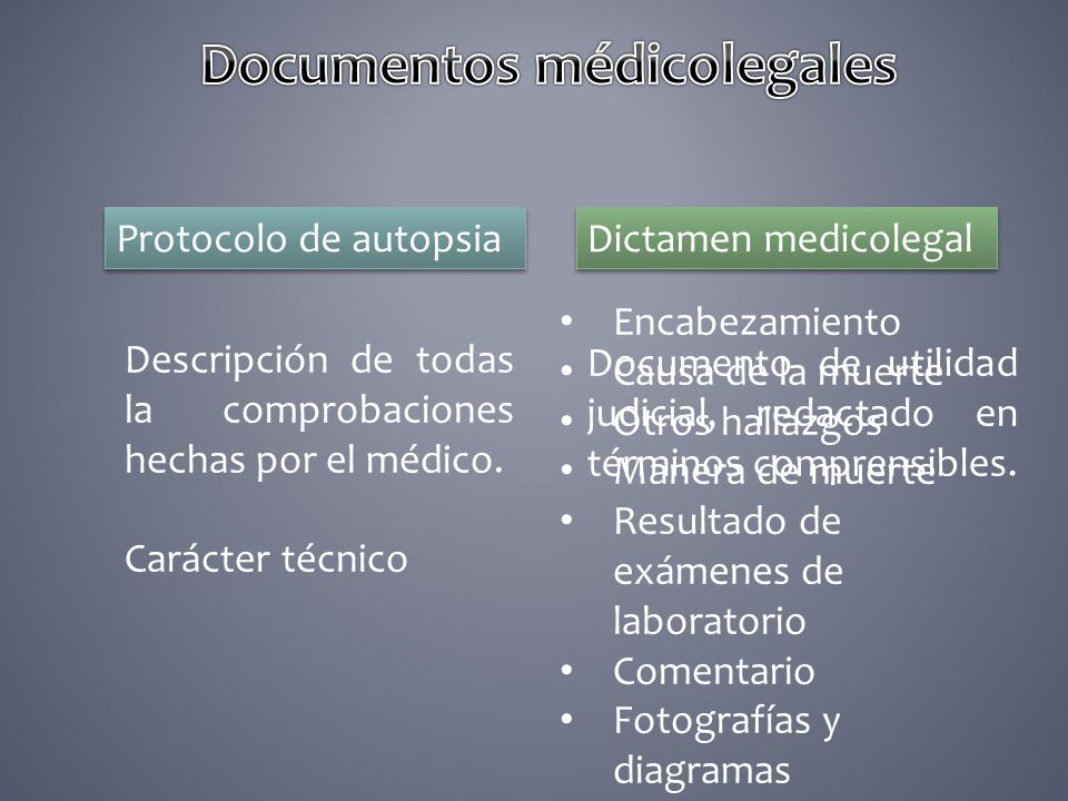 Documentos médicolegales
