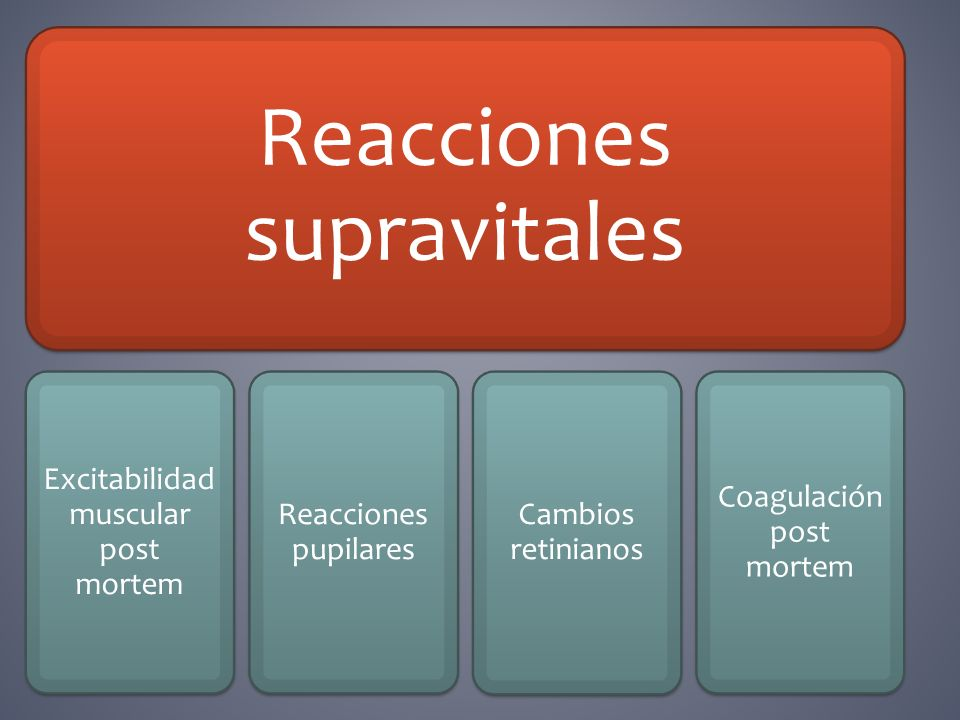 Reacciones supravitales