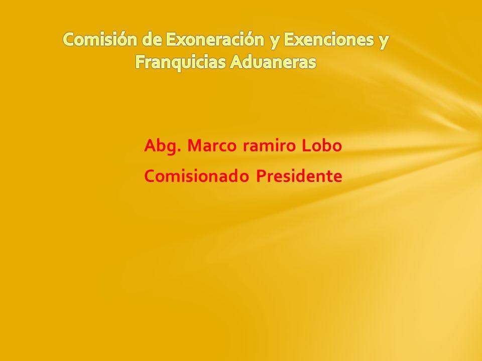 Comisión de Exoneración y Exenciones y Franquicias Aduaneras