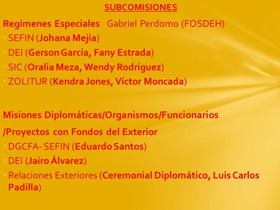 Regímenes Especiales Gabriel Perdomo (FOSDEH) SEFIN (Johana Mejía)