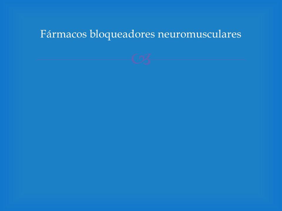 Fármacos bloqueadores neuromusculares