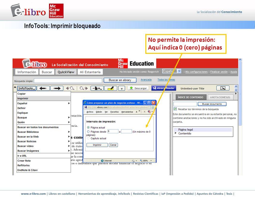 InfoTools: Imprimir bloqueado