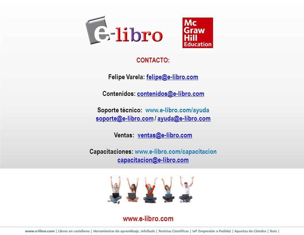 www.e-libro.com CONTACTO: Felipe Varela: felipe@e-libro.com