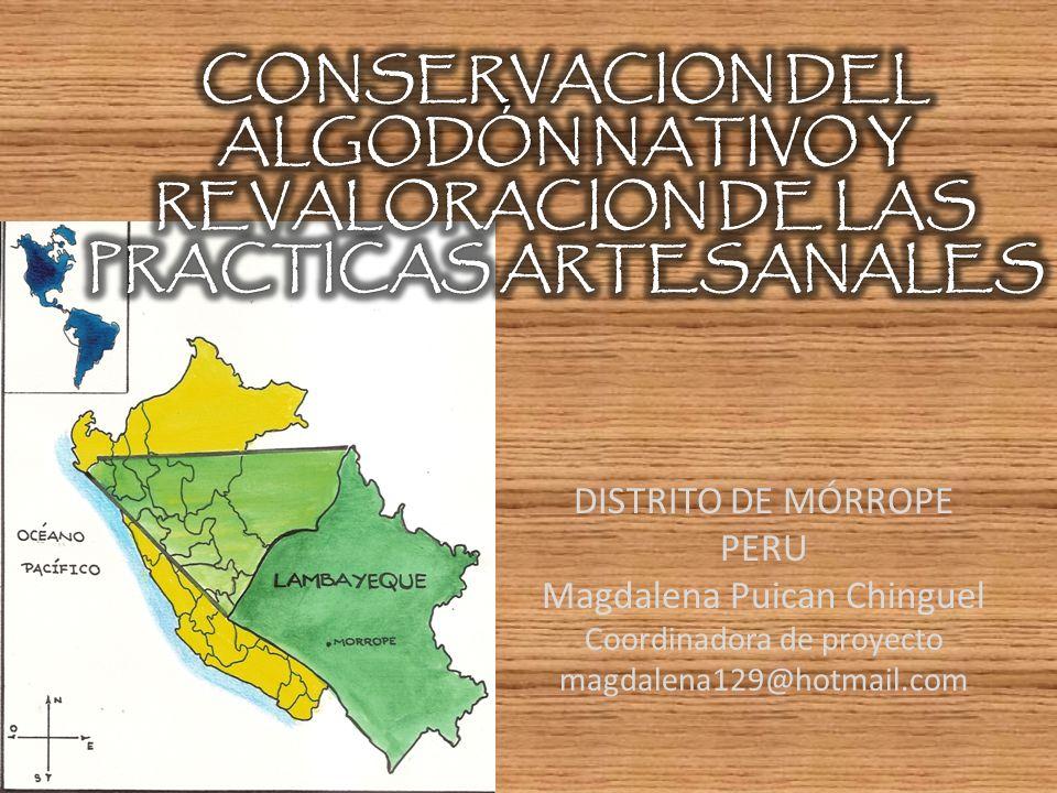 CONSERVACION DEL ALGODÓN NATIVO Y REVALORACION DE LAS PRACTICAS ARTESANALES