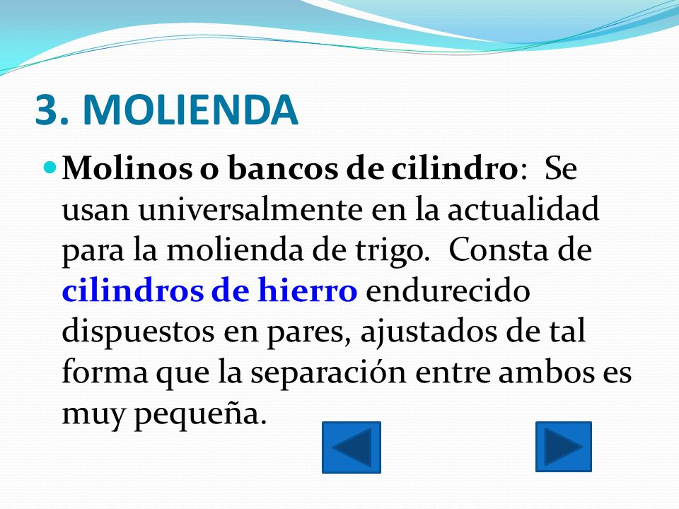 3. MOLIENDA