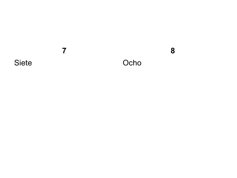 7 8 Siete Ocho