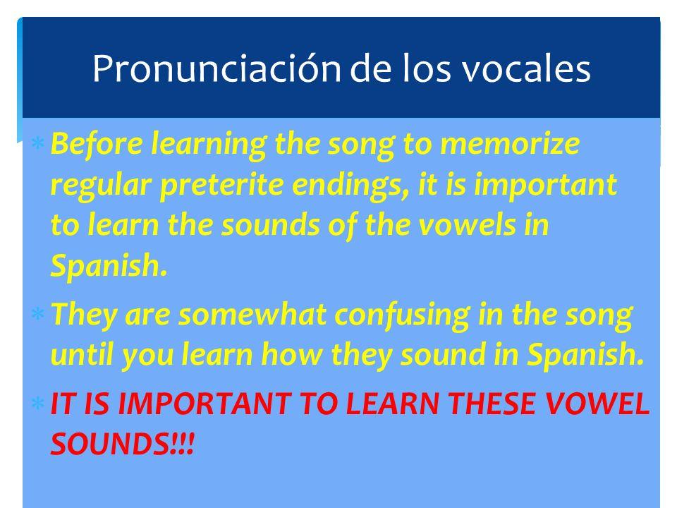 Pronunciación de los vocales