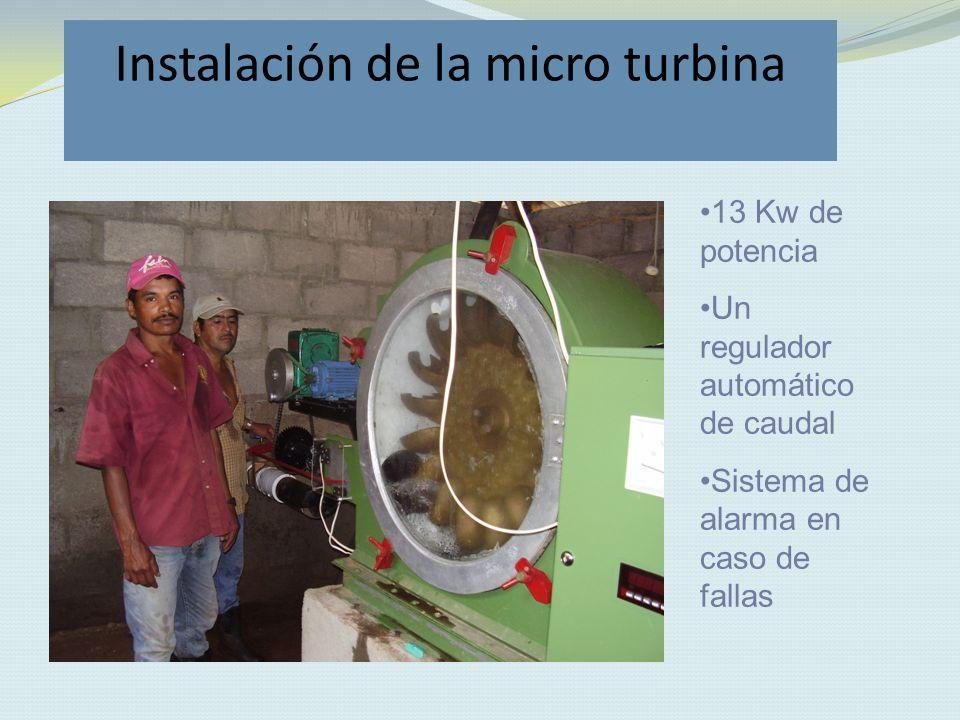 Instalación de la micro turbina