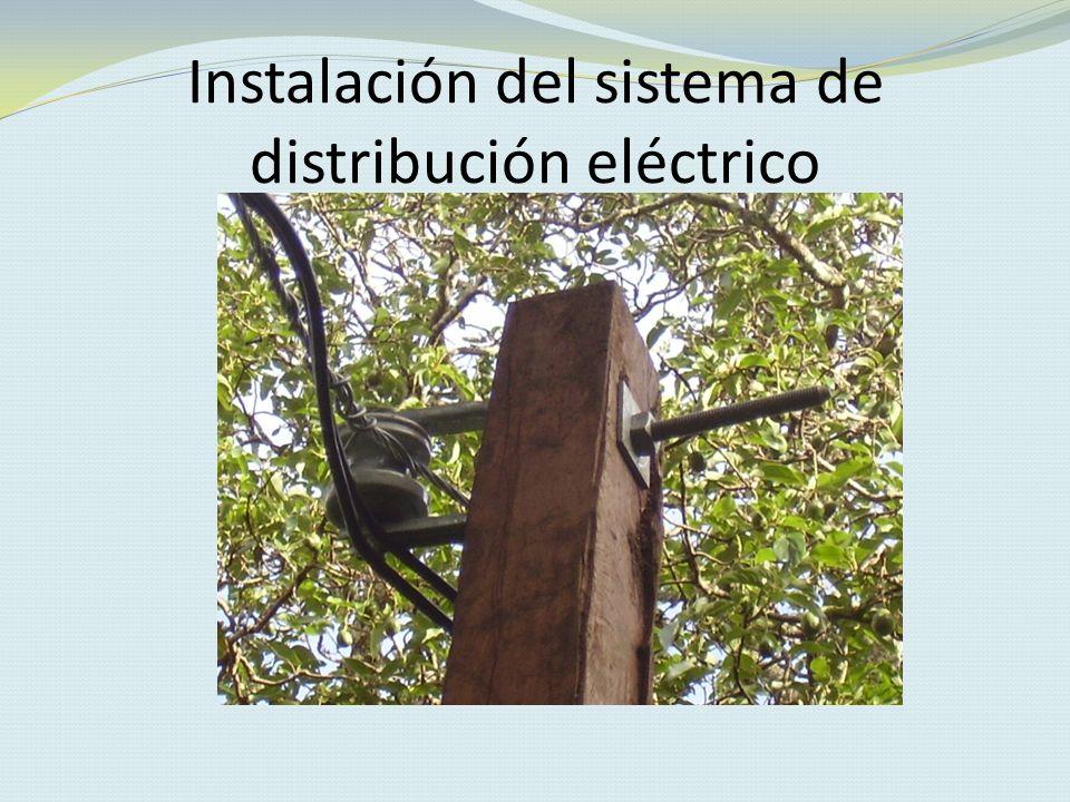 Instalación del sistema de distribución eléctrico