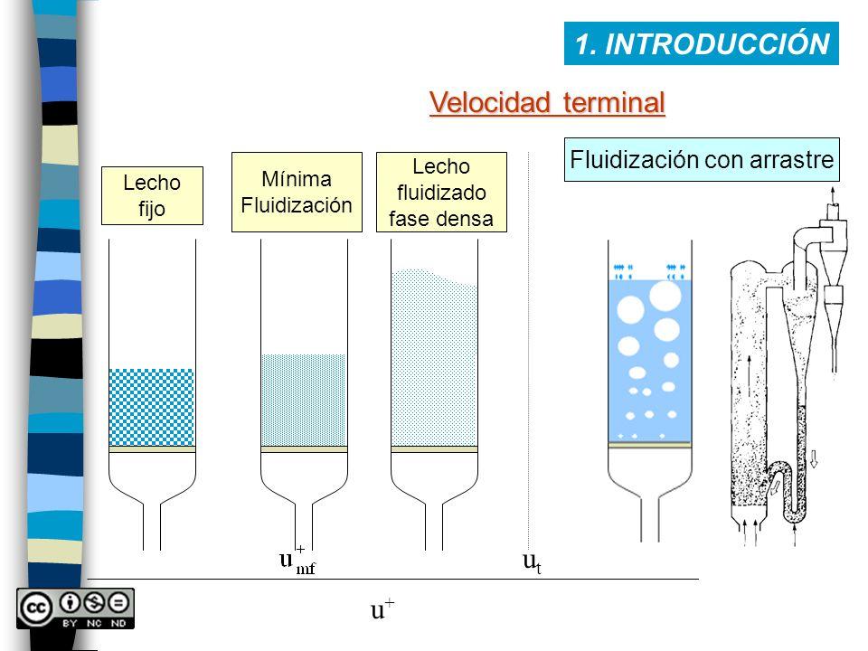 Fluidización con arrastre