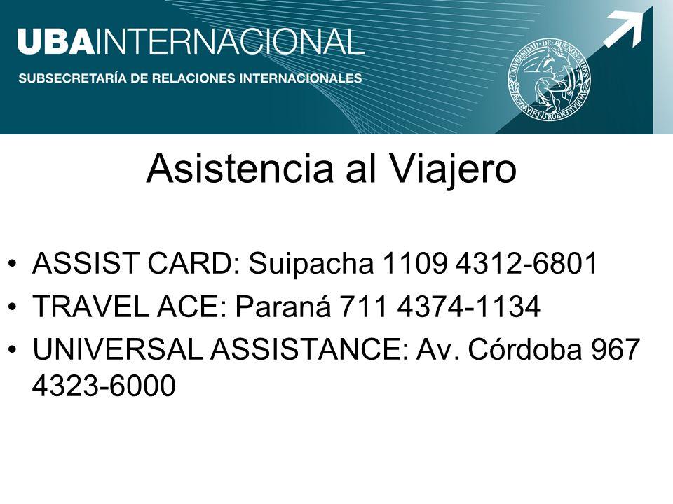 Asistencia al Viajero ASSIST CARD: Suipacha 1109 4312-6801
