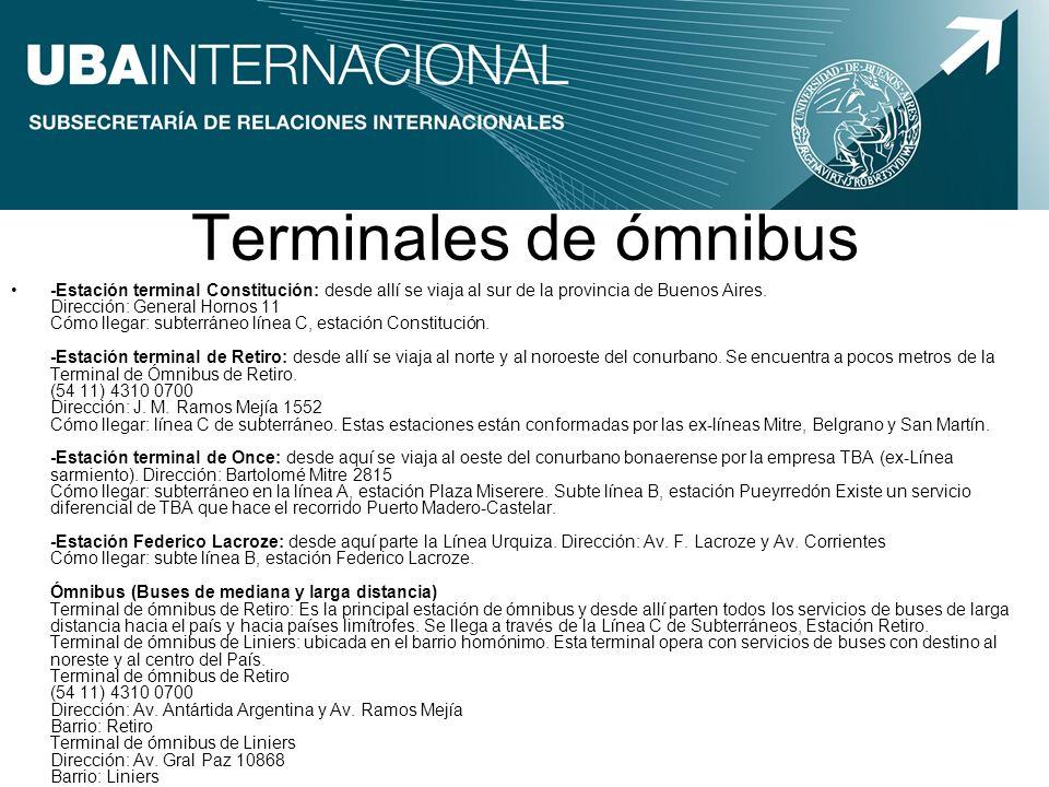 Terminales de ómnibus