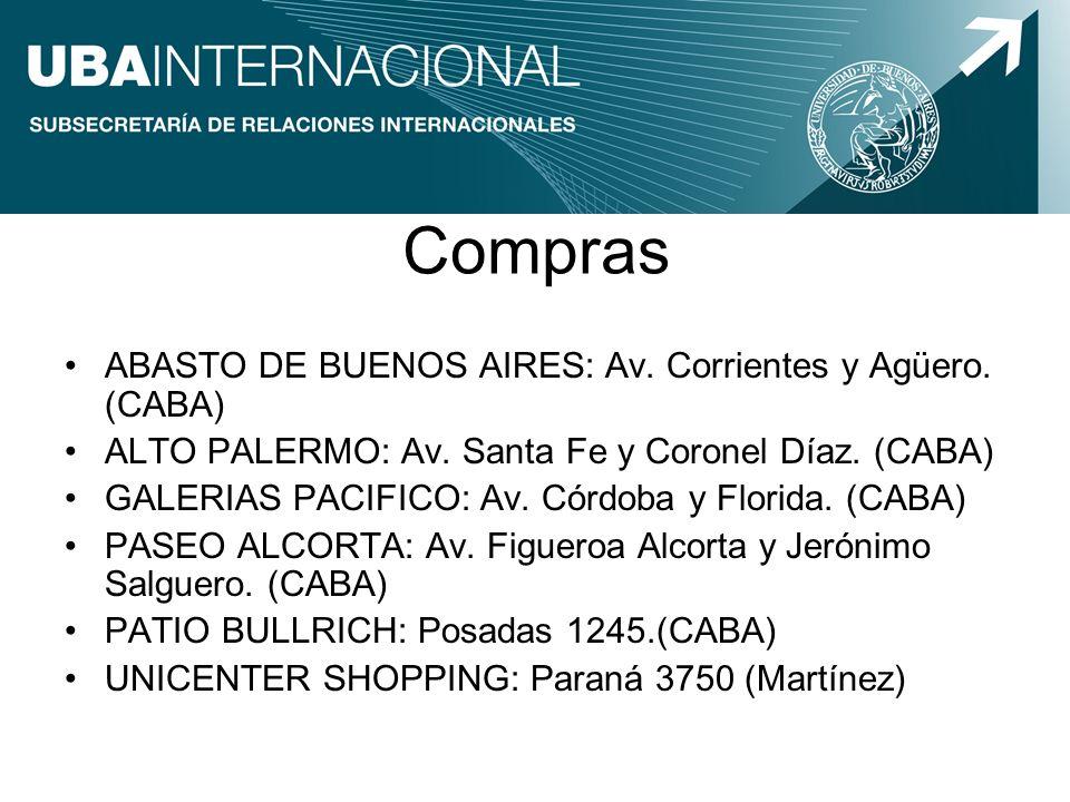Compras ABASTO DE BUENOS AIRES: Av. Corrientes y Agüero. (CABA)
