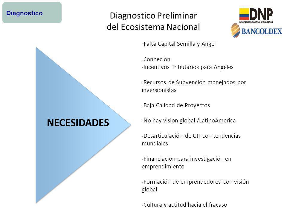 NECESIDADES Diagnostico Preliminar del Ecosistema Nacional