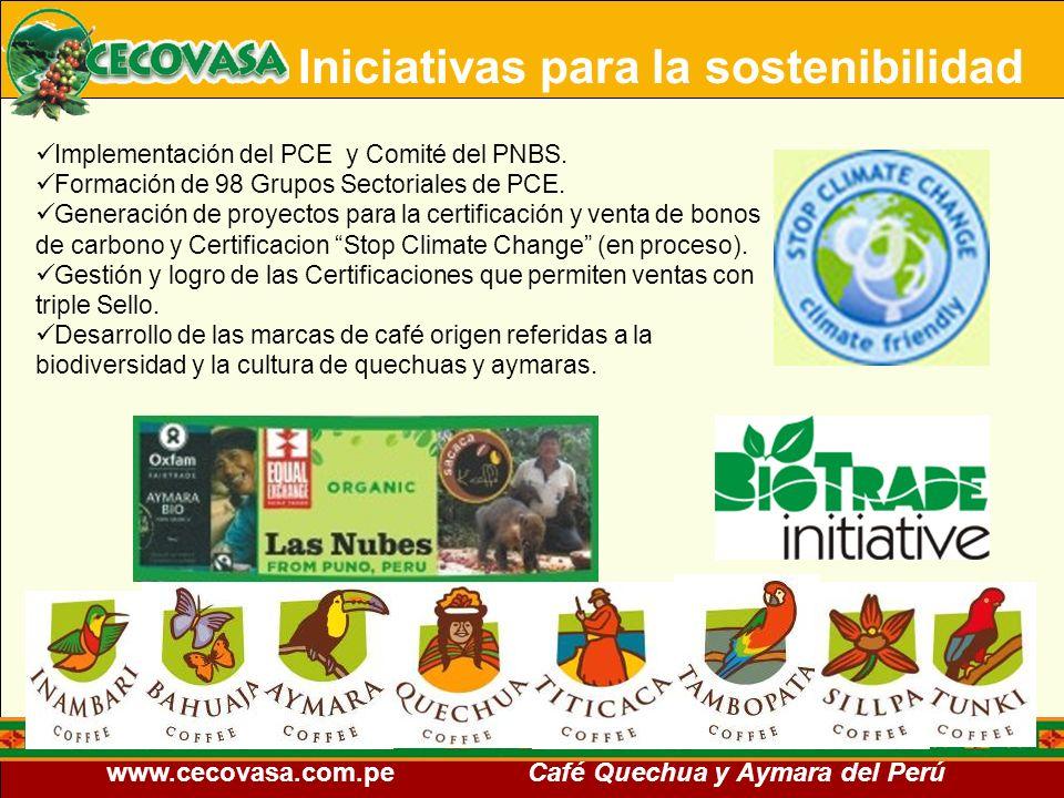 Iniciativas para la sostenibilidad