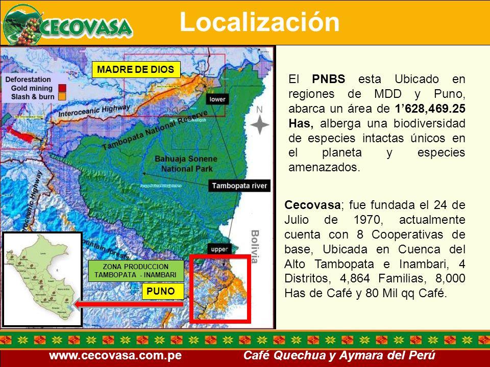 Localización MADRE DE DIOS.