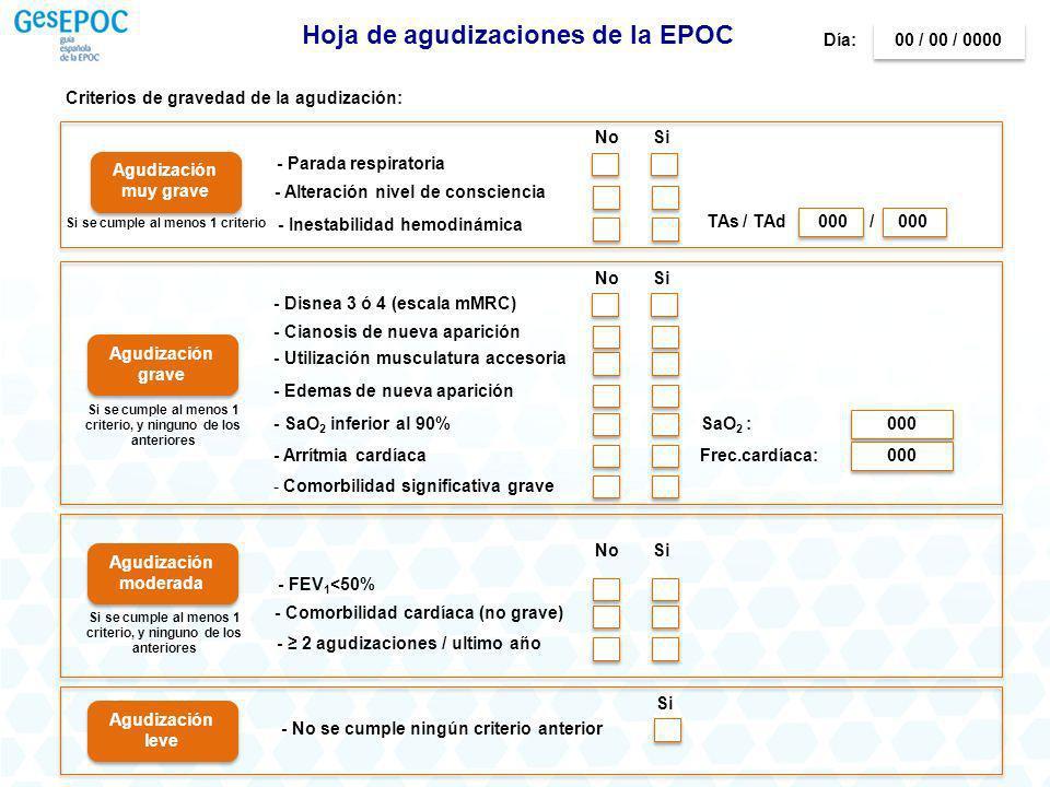 Hoja de agudizaciones de la EPOC
