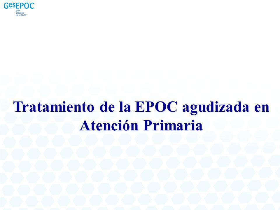 Tratamiento de la EPOC agudizada en Atención Primaria