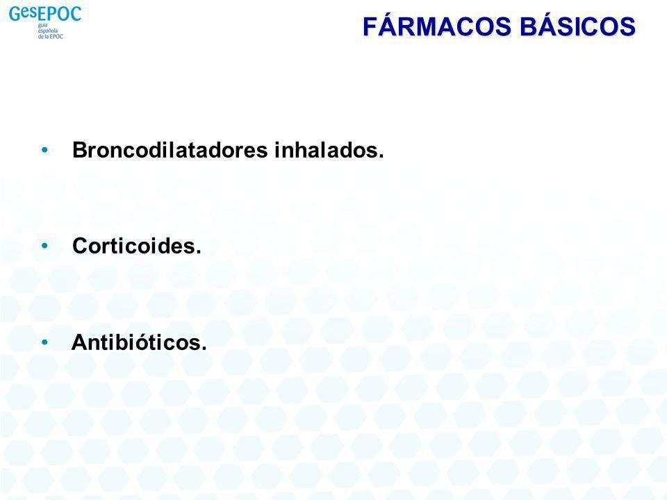 FÁRMACOS BÁSICOS Broncodilatadores inhalados. Corticoides.