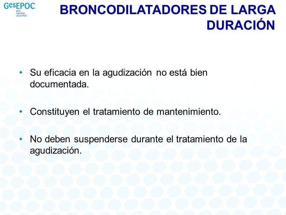 BRONCODILATADORES DE LARGA DURACIÓN