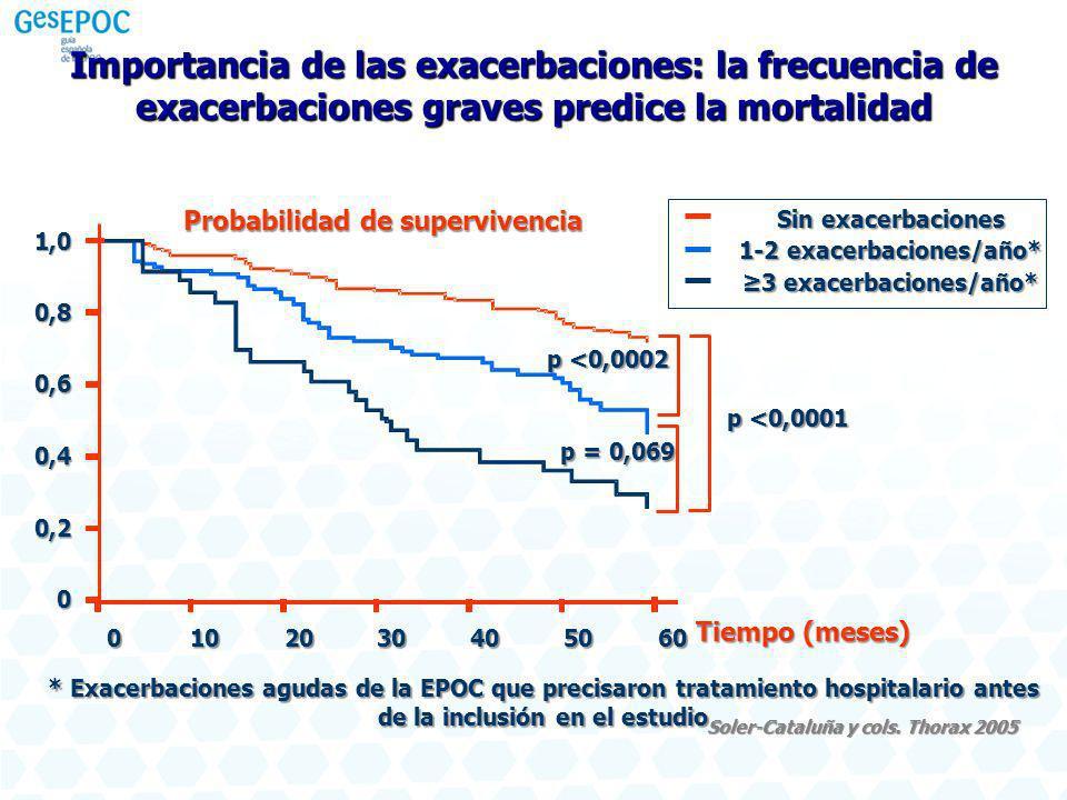 Importancia de las exacerbaciones: la frecuencia de exacerbaciones graves predice la mortalidad