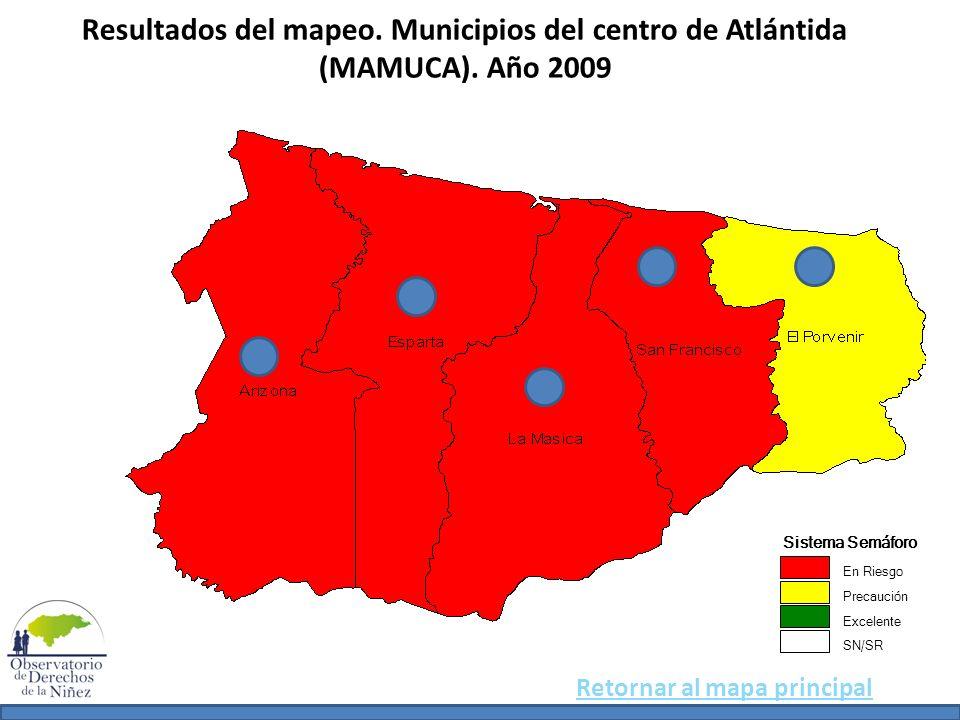 Resultados del mapeo. Municipios del centro de Atlántida (MAMUCA)