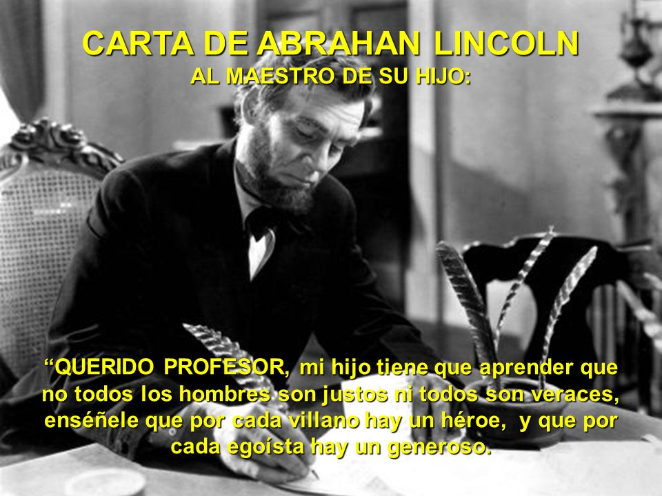 CARTA DE ABRAHAN LINCOLN