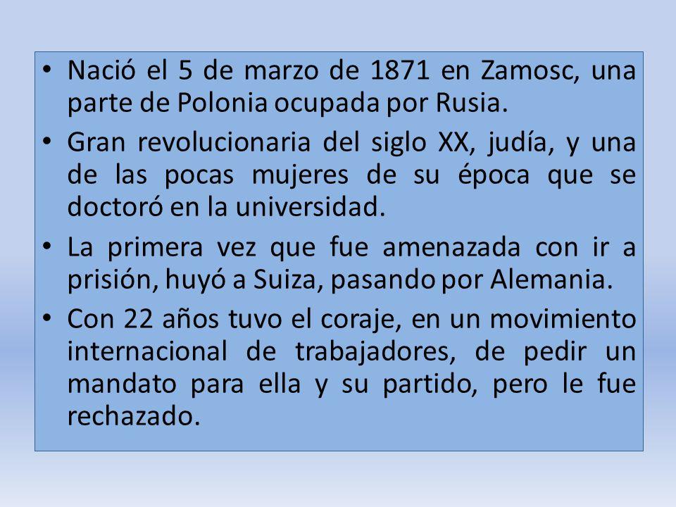 Nació el 5 de marzo de 1871 en Zamosc, una parte de Polonia ocupada por Rusia.