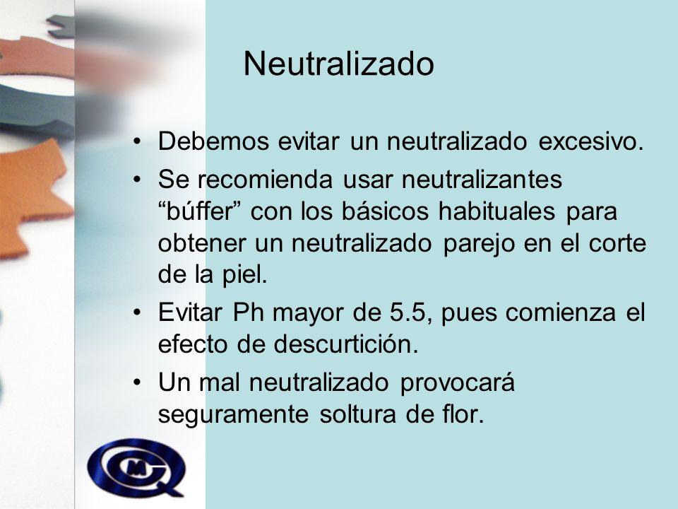 Neutralizado Debemos evitar un neutralizado excesivo.