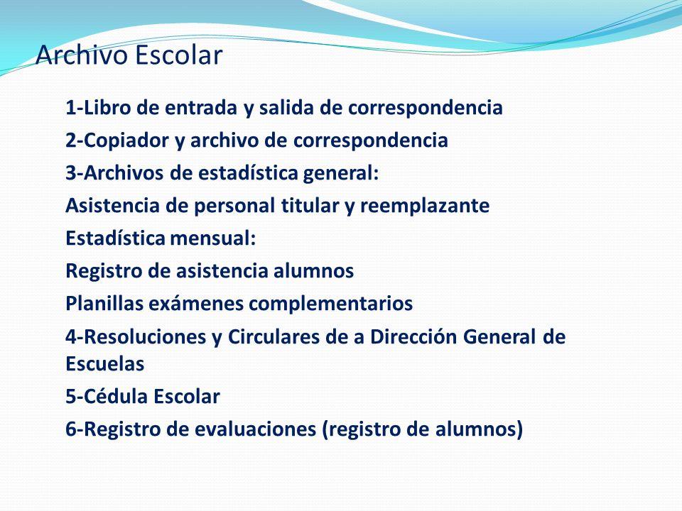 Archivo Escolar 1-Libro de entrada y salida de correspondencia