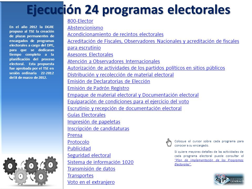 Ejecución 24 programas electorales