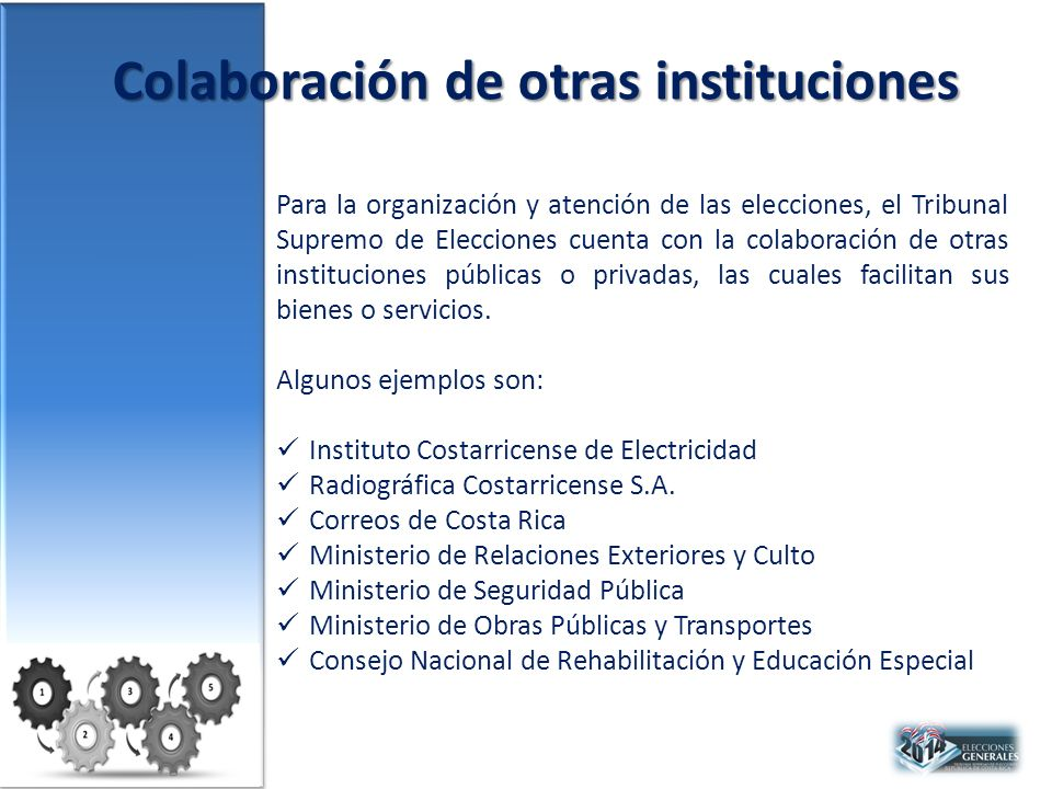 Colaboración de otras instituciones
