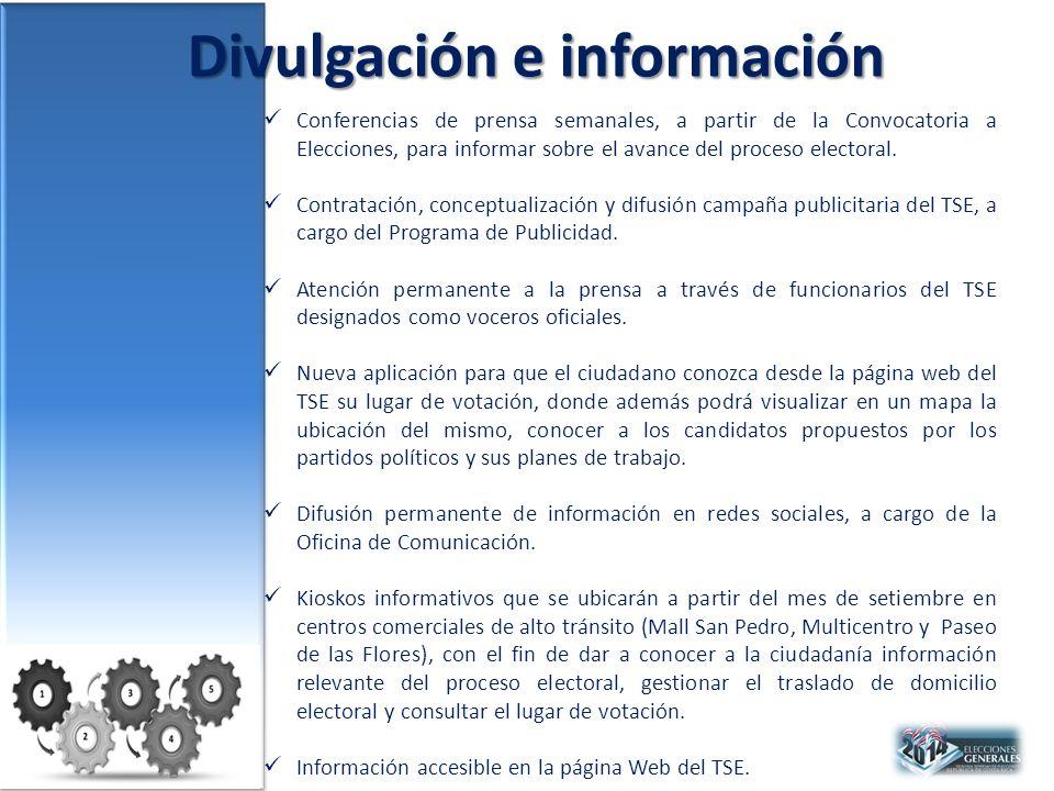 Divulgación e información