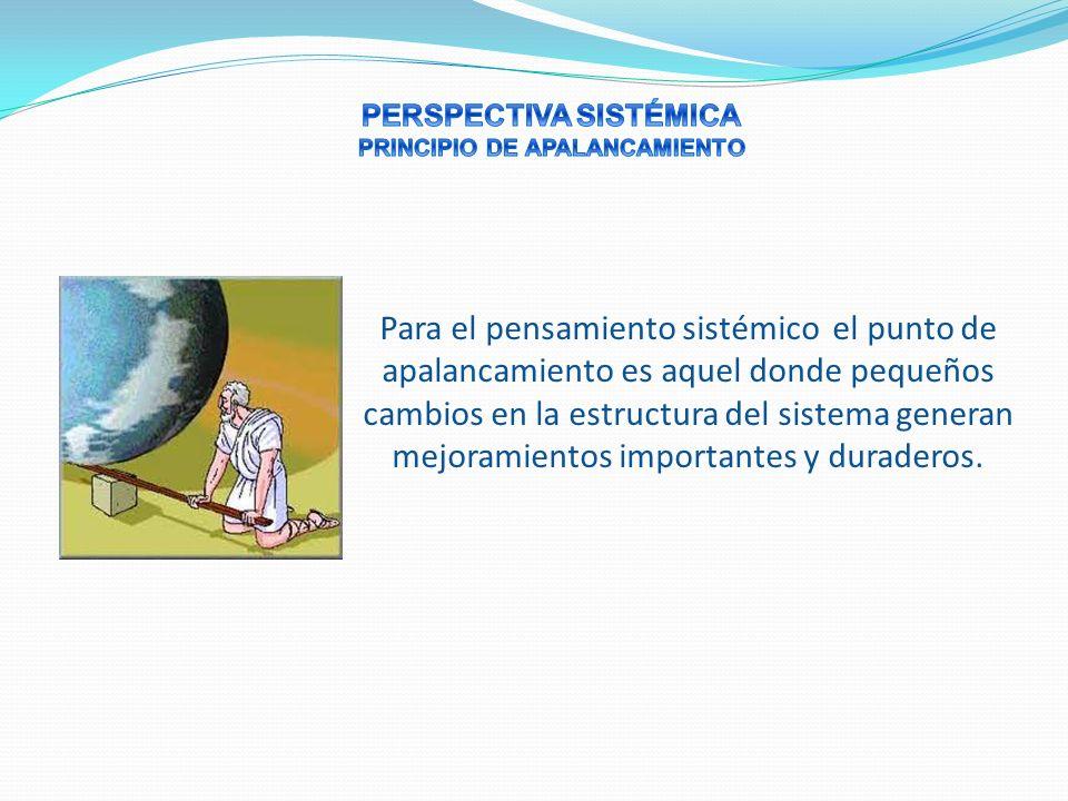 PERSPECTIVA SISTÉMICA PRINCIPIO DE APALANCAMIENTO