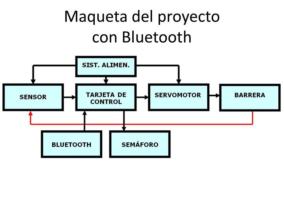 Maqueta del proyecto con Bluetooth