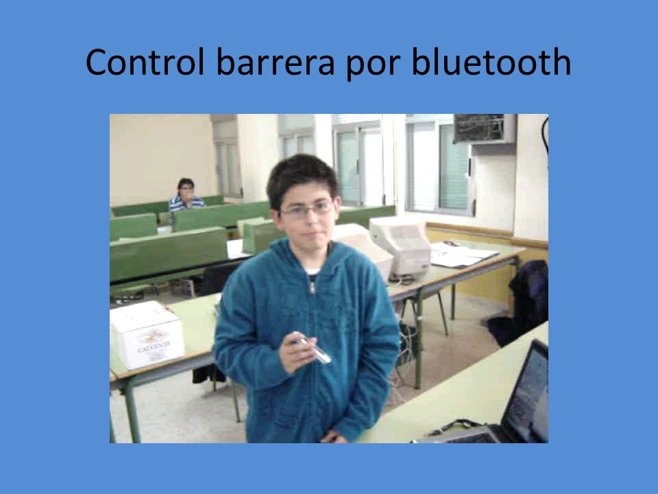 Control barrera por bluetooth